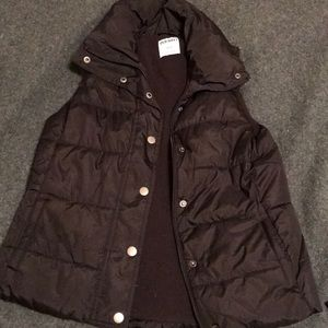 Black puffy vest from Old Navy